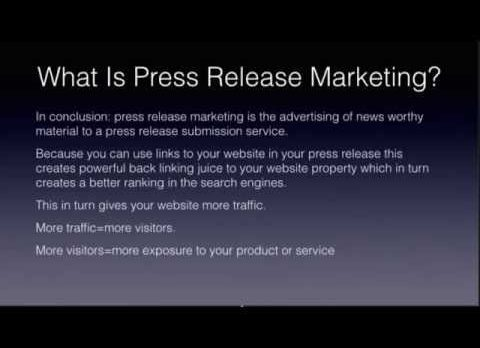 What Is Press Release Marketing?