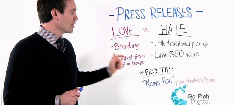Press Releases for Branding and SEO:  A Love/Hate Relationship