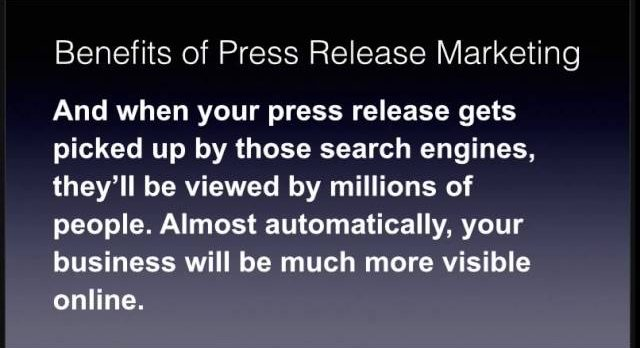 Benefits of Press Release Marketing