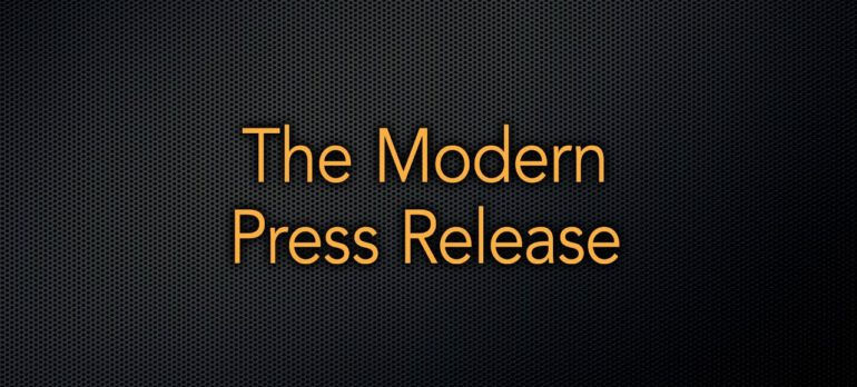 The Modern Press Release