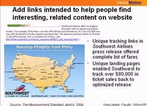 Greg Jarboe – Press Release Optimization: Building Inbound Links