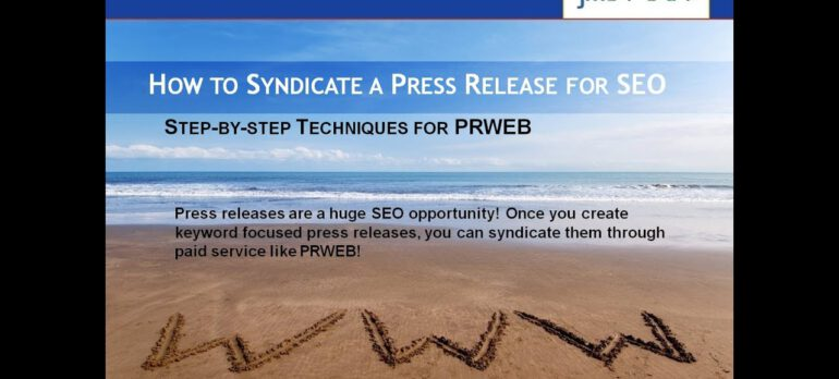 Prweb and Vocus Review – Using Prweb to Syndicate a Press Release for SEO