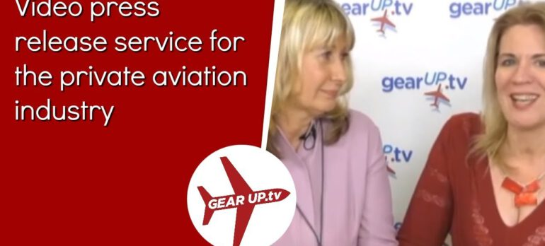 Video press release service for the private aviation industry