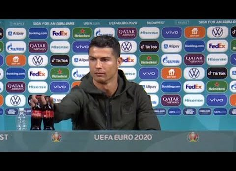 'Drink water': Ronaldo removes Coca-Cola bottles in press conference
