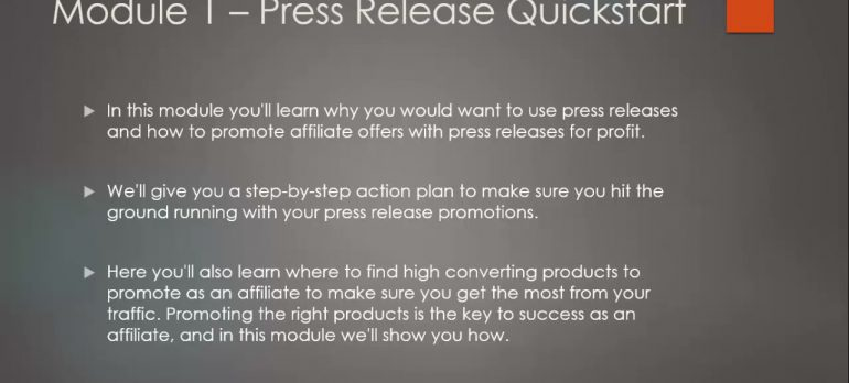 Press Release Marketing: Promote Offers Using Press Releases – learn Affiliate Marketing